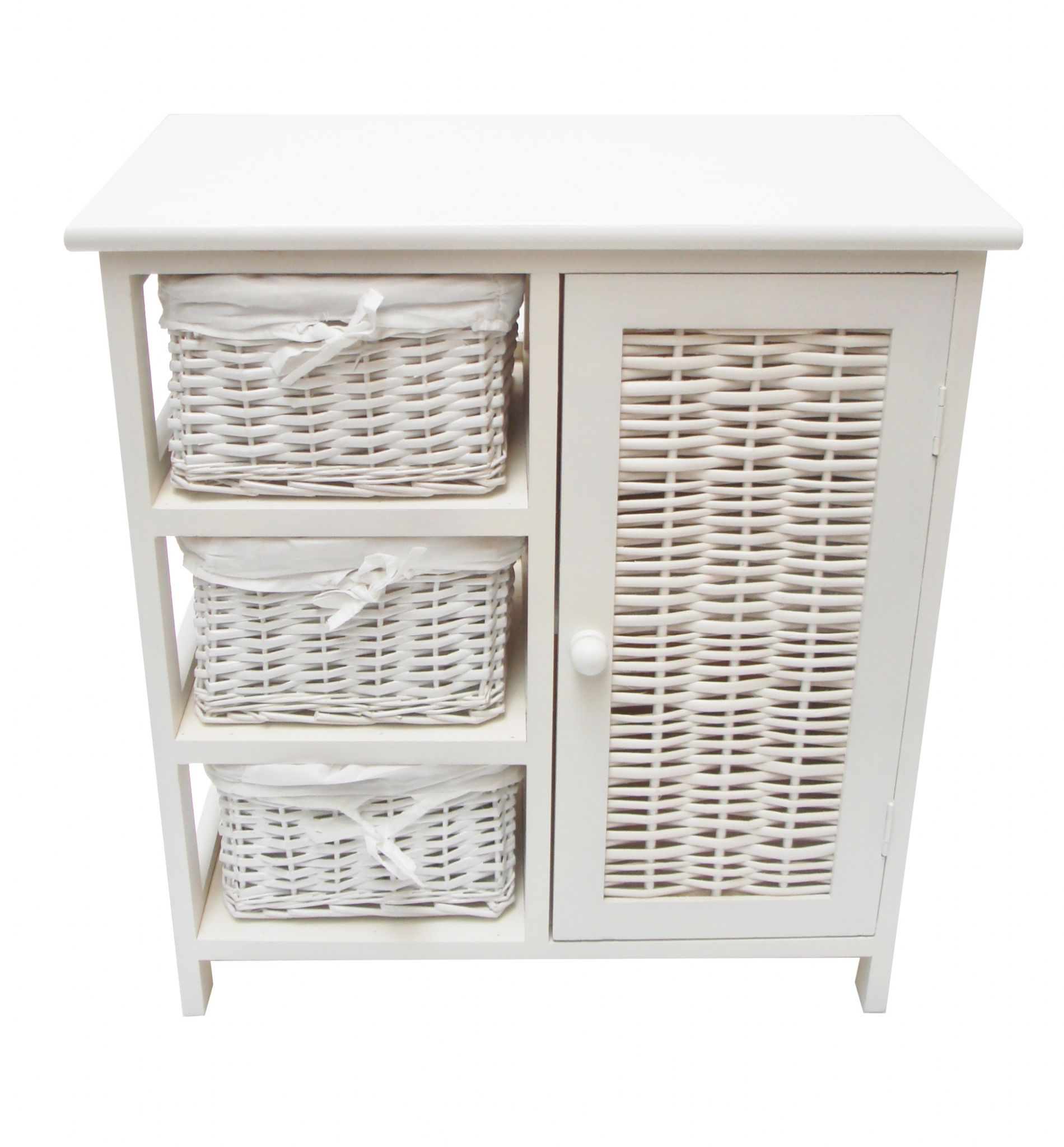 3 Chest Of Drawers With Cupboard Bedside Table Bathroom Storage Unit Cabinet Rcup2hez W